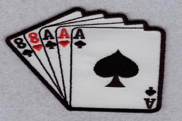 Embroidery patch Playing card
