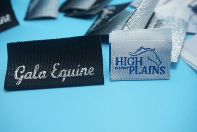 horse woven labels