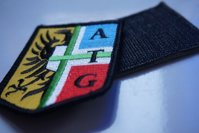 Embroidery patch with velcro ATG