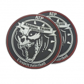 PVC patch for paintball Wolf Head