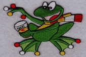 Embroidery patch Frog