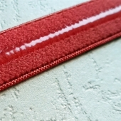Silicone elastic webbing red