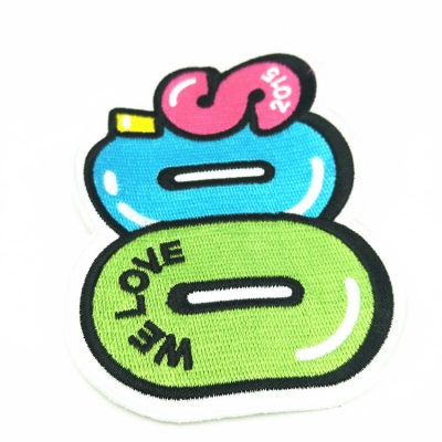 Embroidered patches number frog