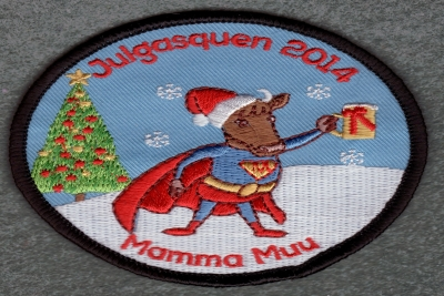 Embroidery patch Christmas horse