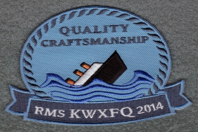 Embroidery patch Boat