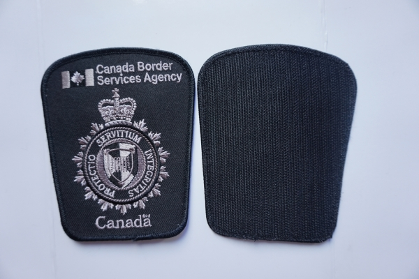 Embroidery patch with velcro