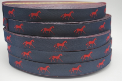 horse ribbon Navy/red