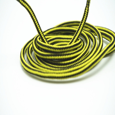 Colored shoe laces black yellow