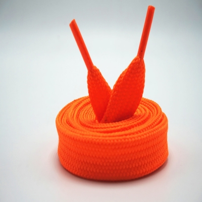 Plain orange flat shoe laces
