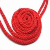 Red round shoe laces
